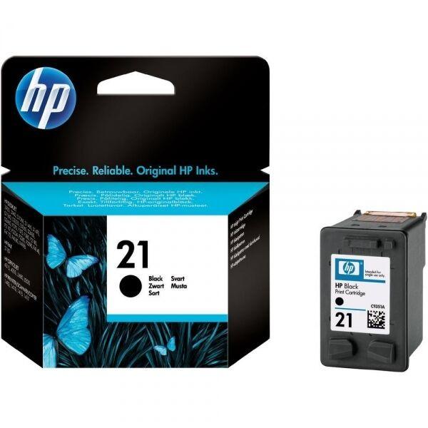 HP Genuine Original New 21 Black Ink Cartridge (C9351AE-NP) 1410 F4140 F4170