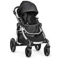 Brand New Baby Jogger City Select Silver Frame Stroller