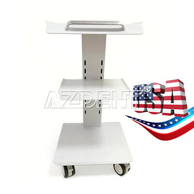 Hospital Stainless Steel Three Layers Serving Medical Cart Dental Lab Trolley Gt