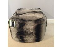 Black and grey pouffe, £30