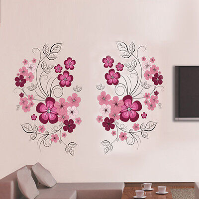 Removable Flowers Mural Wall Sticker Decal Home ...