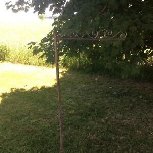 Antique house/address sign post