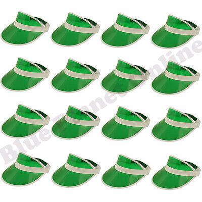 BULK BUY LOT GREEN VISOR HAT CAP PUB GOLF GOLFER FANCY DRESS STAG NIGHT - Buy Fancy Dress Costumes