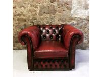 Chesterfield oxblood vintage club chair