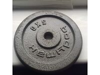 4No. 5kg dumbell weights plates