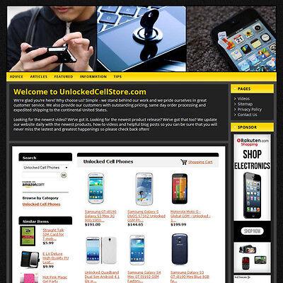 Unlocked Cell Phone Wordpress Website   Amazon   Adsense Store   Free Domain