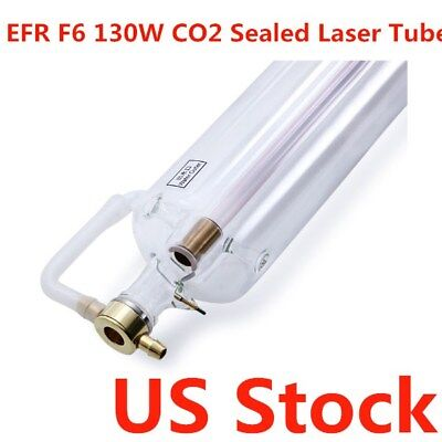 Usa-efr F6 130w Peak 150w Co2 Laser Tube 1650mm For Laser Engraver Cutter 6000h
