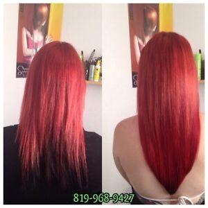 Extension de cheveux loop,tape,kératine 250$ de cils 50$ Gatineau Ottawa / Gatineau Area image 2