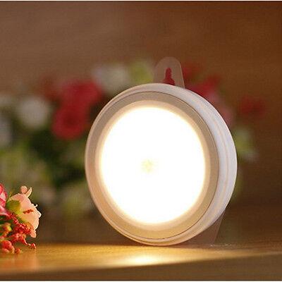 LED Wireless Motion Sensor Night Light Cabinet Wardrobe Wall Lamp Battery Power