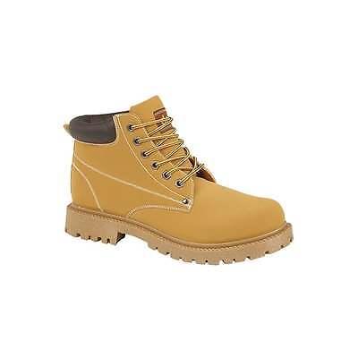 DEK OASIS Unisex Mens Womens 6 Eyelet Lace Up Padded Collar Ankle Boots Honey