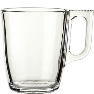 Two Large Luminarc Nuevo Clear Glass Tea Coffee Chai