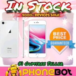 Brand New Sealed iPhone 8 256GB silver full warranty @Phonebot