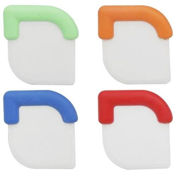 4 PACK SILICONE POT SCRAPERS Spatula Dirty Fry Pan Dish Clea