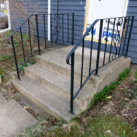 Concrete Steps with Railings
