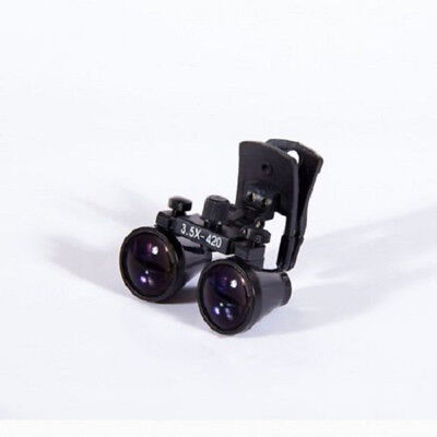 3.5x420mm Medical Binocular Loupes Head Clip-on Magnifier Dy-110 Black Us Stock