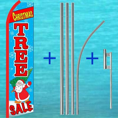 Christmas Tree Sale Flutter Flag Pole Mount Kit Feather Swooper Banner Sign