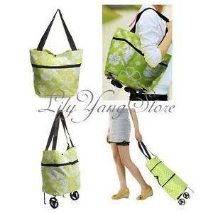 Shopping Trolley Wheeled Foldable Shopper Luggage Shoulder Bag Cart Totes Light