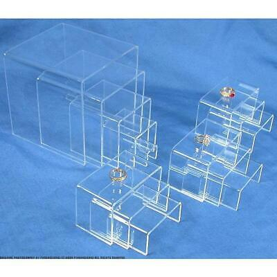14 Piece Clear Acrylic Riser Jewelry Display Set