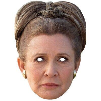 KOSTÜM-ZUBEHÖR KARNEVAL FASCHING MASKE CARD MASK PRINCESS PRINZESSIN - Prinzessin Leia Maske