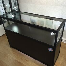 3 X Black Retail Display Cabinet Display Lockable LED Lit. Stunning Retail Displays. Shop Furniture.