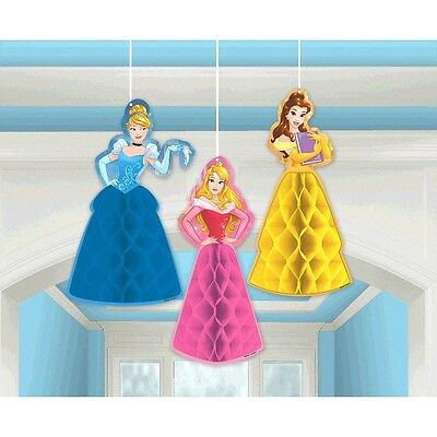 Disney Princess 'Dream Big' Birthday Party Hanging 3D Honeycomb Decorations - Disney Princess Party Decor