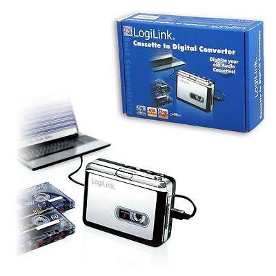 LOGILINK USB CASSETTEN PLAYER ZUM DIGITALISIEREN KASSETTEN IN MP3 UMWANDELN