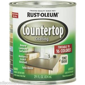 ... RustOleum 29 Oz Tint Base Satin Laminate Countertop Coating Kit 246068