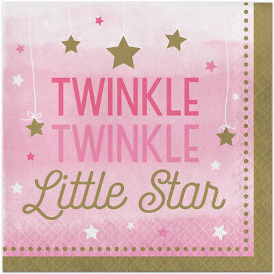 Twinkle Twinkle Little One (Twinkle Twinkle Little Star One Little Star Girl Party Supllies Large)