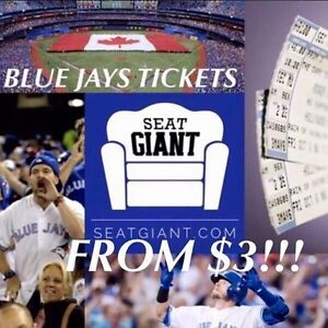 BLUE JAYS TICKETS FROM $3!!!