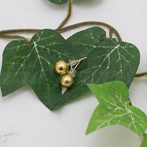 Orecchini-vintage-americani-pallina-tono-oro