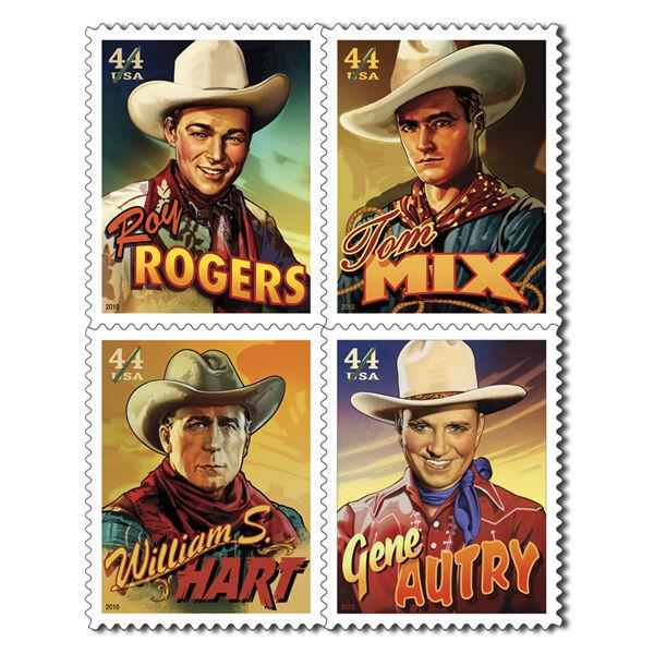 US Scott #4446-4449 Cowboys of the Silver Screen Block of 4MNH*** FREE SHIP***