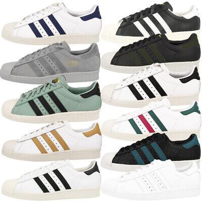 timeless design ab87c 3fc20 Adidas Superstar 80s Schuhe Herren Retro Sneaker Freizeit Turnschuhe  Klassiker