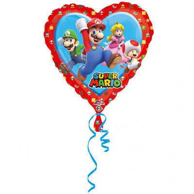 Super Mario Herz ca. 45cm Luftballons Folienballon Geburtstag Figur deko