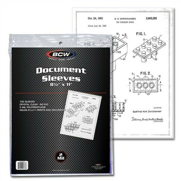 1000 BCW 8.5 x 11 Soft Clear Poly Archival Document Sleeves 8.5x11 photo print