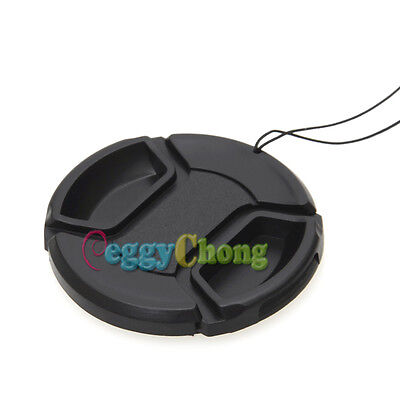 100 Pcs 52mm Snap-on Front Lens Cap Cover For Canon Nikon Sony DSLR Camera