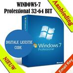 _windows 7 professional sp1 licentiecode 32x / 64x