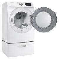 Brand new front load Samsung dryer, unpacked
