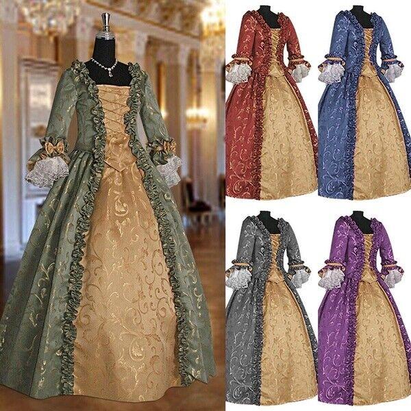 Frauen Mittelalter Kleid Renaissance Kleid Barock Kleid Kostüm Brautkleider