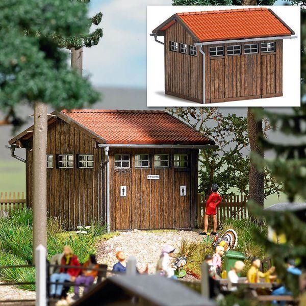 Busch 1586 -H0- Toilettenhaus - Laser-Cut Bausatz  neu OVP