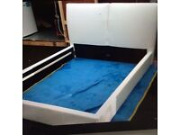 White leather beds