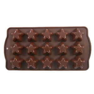 SILICON NONSTICK CHOCOLATE TRAY MOULD SWEET MAKING KITCHEN HEART STAR OVAL SHAPE