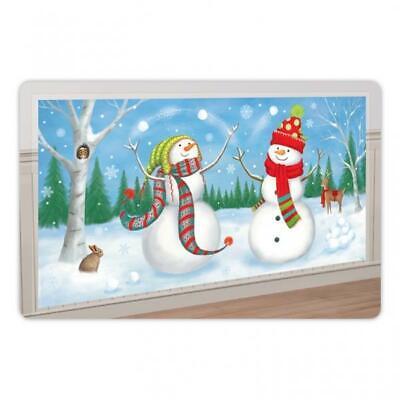 Winter Friends Christmas Horizontal Scene Setter Banner