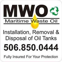 Installation, removal & disposal of Oil tanks