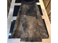 Ladies full length wrap leather skirt