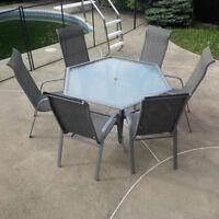 Très beaux meubles de patio