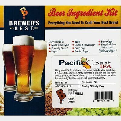 PACIFIC COAST IPA Brewer's Best Homebrew Beer Ingredient