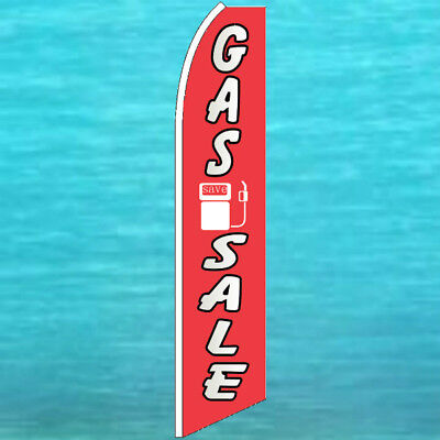 Gas Sale Flutter Flag Tall Curved Top Advertising Sign Feather Swooper Banner