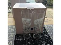 Lovely boxed six peroni glasses new £5