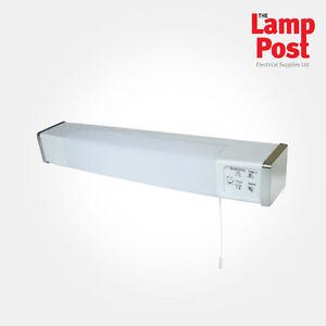 Eterna SH1844DVO - White & Chrome Bathroom Shaver Light Dual Voltage With Socket