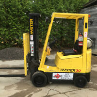 """2004 Hyster Forklift, 189"""" Lift, Side shift, Propane, 3000lbs"""